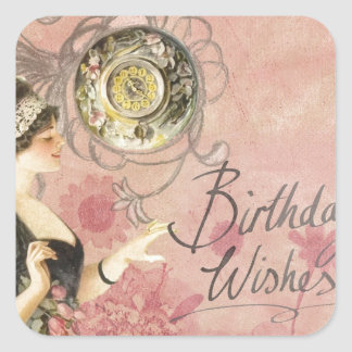 Birthday Wishes Square Sticker