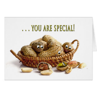 BIRTHDAY - You're one of a kind -Peanuts/Pistachio Card