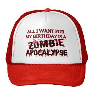 Birthday Zombie Apocalypse Cap