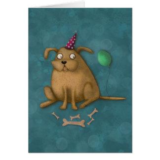 Birthdaycard with dog card