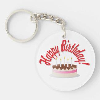 Birthday's cake key ring
