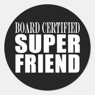 Birthdays Christmas Parties : Super Friend Round Sticker