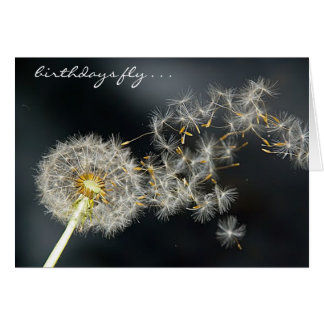 """Birthdays Fly"" Dandelion Birthday Card"