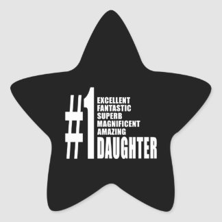 Birthdays Parties Christmas : Number One Daughter Sticker