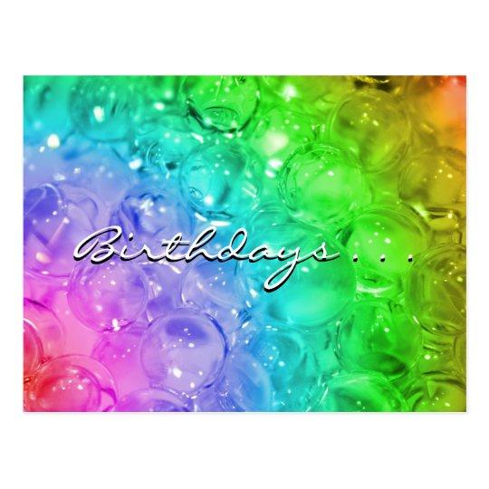 Birthdays . . .   postcard