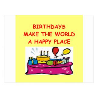 birthdays postcard