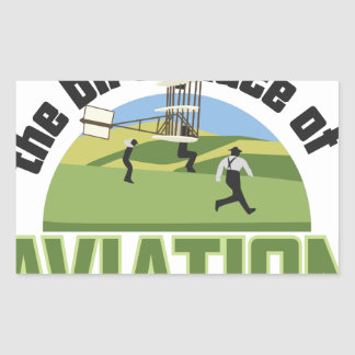 Birthplace of Aviation Rectangular Sticker