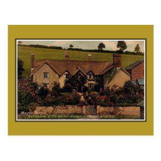 Birthplace of Sir Walter Raleigh, Hayes Barton Postcard