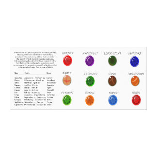 Birthstone Chart Gallery Wrapped Canvas