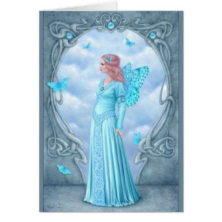 Birthstones - Aquamarine Fairy Greeting Card
