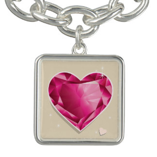 Birthstones July Ruby Red Heart