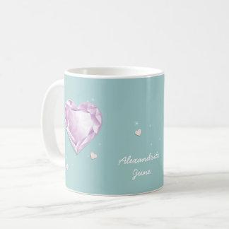 Birthstones June Pink Purple Alexandrite Heart Coffee Mug