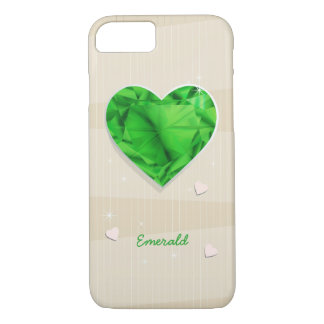 Birthstones May Emerald Green Heart iPhone 8/7 Case