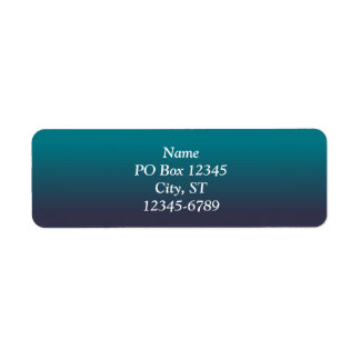 Biscay Bay and Reflecting Pond Ombre Return Address Label