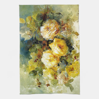 Bischoff - Roses (yellow) Tea Towel