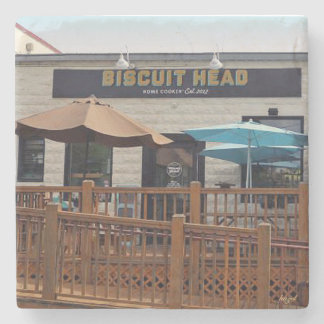 Biscuit Head, Asheville, NC. Marble Stone Coaster. Stone Coaster