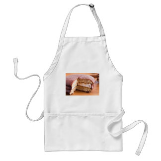 Biscuit with chocolate and a layer of milk souffle standard apron