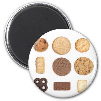 biscuits 6 cm round magnet