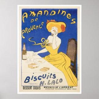 Biscuits Amandines Vintage Food Ad Art Print