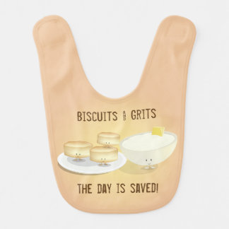 Biscuits and Grits   Baby Bib
