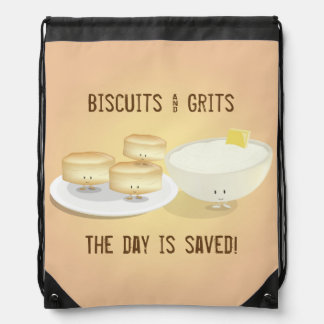 Biscuits and Grits   Drawstring Backpack