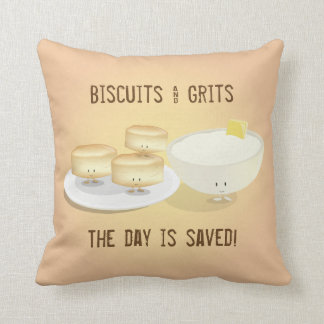 Biscuits and Grits | Throw Pillow