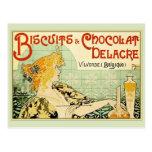 Biscuits & Chocolat Delacre (Sage) Postcard