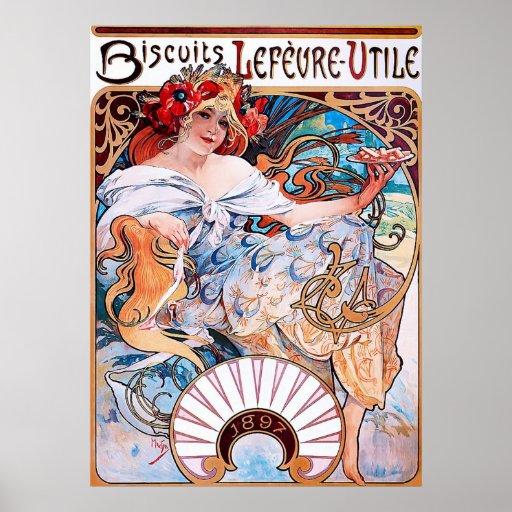 Biscuits Lefèvre-Utile ~ Vintage Advertising Print
