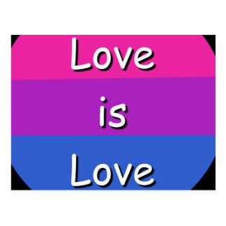 Bisexual Awareness Pride Love is Love Postcard