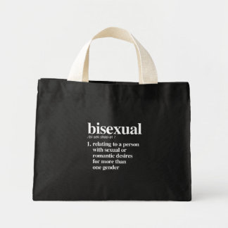 bisexual definition - defined lgbtq terms - LGBT D Mini Tote Bag
