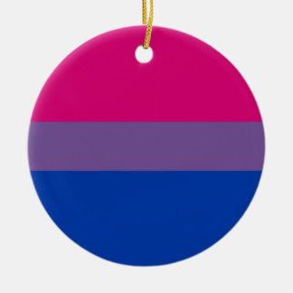 Bisexual Flag Ceramic Ornament