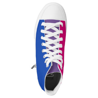 Bisexual flag high tops