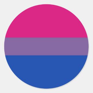Bisexual Flag Round Sticker