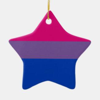 Bisexual LGBT Pride Rainbow Flag Ceramic Ornament