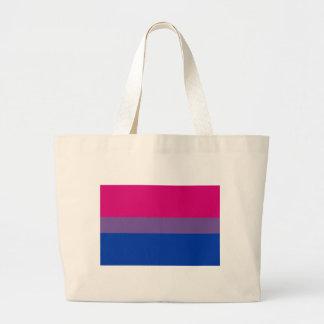 Bisexual LGBT Pride Rainbow Flag Large Tote Bag
