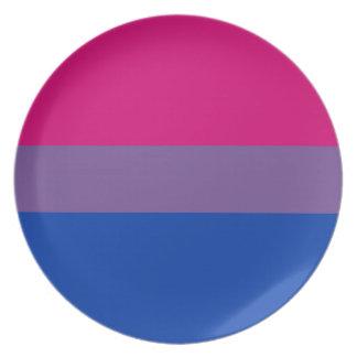 Bisexual LGBT Pride Rainbow Flag Plate