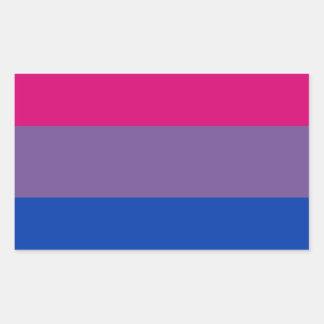 Bisexual LGBT Pride Rainbow Flag Rectangular Sticker