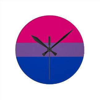 Bisexual LGBT Pride Rainbow Flag Round Clock