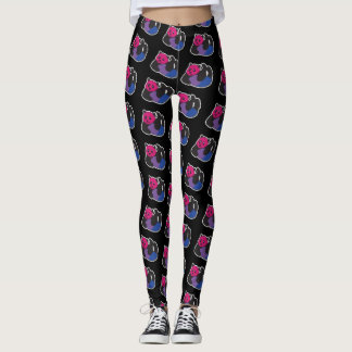 Bisexual Panda LGBT Pride Leggings