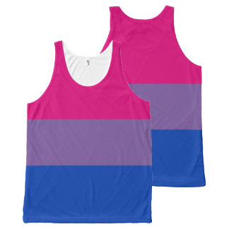 Bisexual pride All-Over print singlet