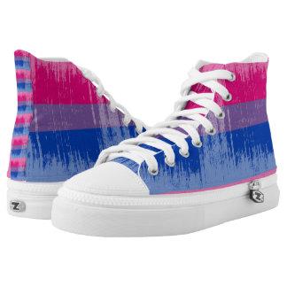 BISEXUAL PRIDE DISTRESSED DESIGN -.png Printed Shoes