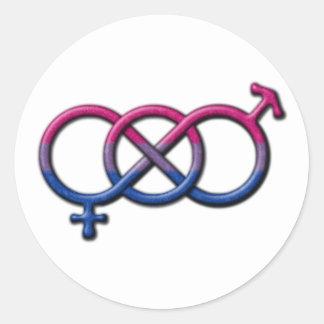 Bisexual Pride Gender Knot Round Sticker