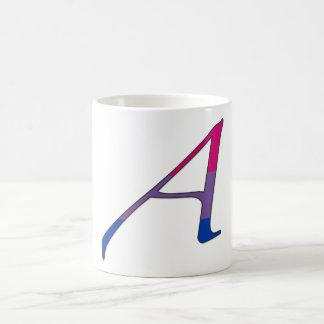 "Bisexual Pride ""Scarlet"" Letter A Coffee Mugs"