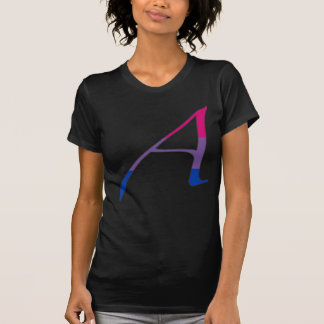 "Bisexual Pride ""Scarlet"" Letter A T-Shirt"
