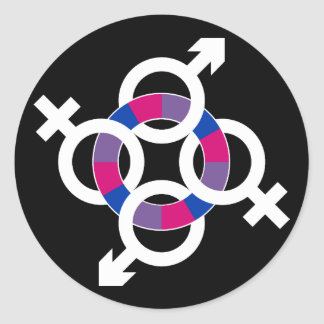 Bisexual Ring Classic Round Sticker