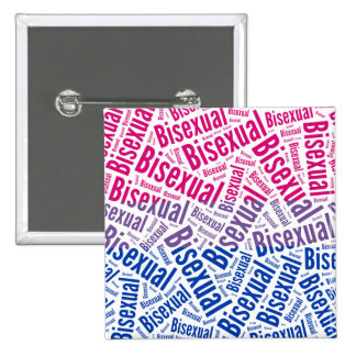 BISEXUAL WORD PATTERN FLAG -.png 15 Cm Square Badge