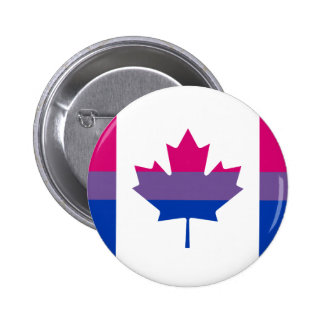 Bisexuality Canadian pride flag Button