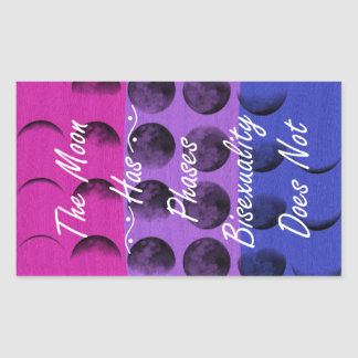 Bisexuality is not just a phase rectangular sticker