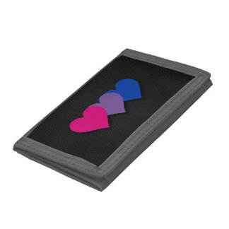 Bisexuality pride hearts Wallet