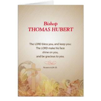 Bishop Custom Name, Title, 50th Ordination Anniv. Card